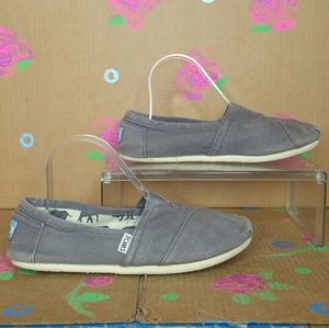 TOM'S Natural Burlap Light Brown Slip On Shoes 9
